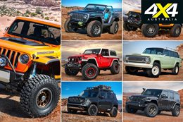 Jeep and Mopar concept vehicles at Moab Easter Jeep Safari