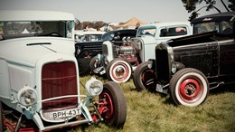 Chopped rod and custom show
