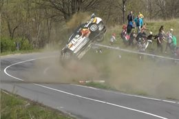Rally crashes