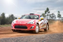 Toyota 86 rally car