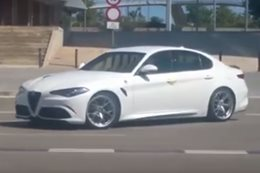 Alfa Romeo Giulia spied in action