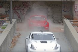 Pro-drifters in mega-power 370Z's