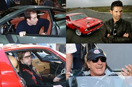 Nine celebrity petrolheads