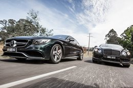 Bentley Continental V8 S vs Mercedes-AMG S63 Coupe