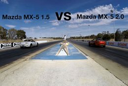Mazda MX-5 drag race