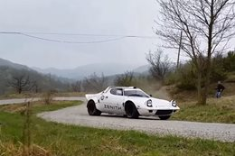 Lancia Stratos historic rally test