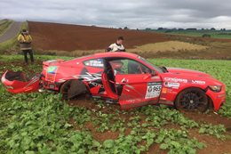 Shelby Mustang Targa Tasmania crash