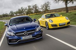 Porsche 911 Carrera vs Mercedes-AMG C63 S Coupe