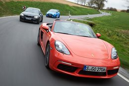 BMW M2 vs Porsche Boxster S vs Ford Focus RS