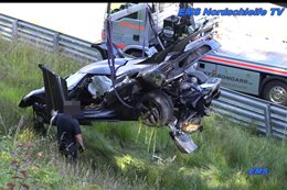 Koenigsegg One:1 crashes at Nurburgring