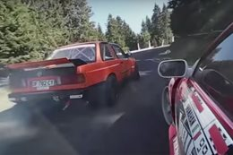 Mountain drift battle filmed in 360-degrees
