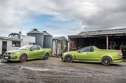 Holden Commodore SS-V Redline Ute vs HSV Maloo R8 SV Black
