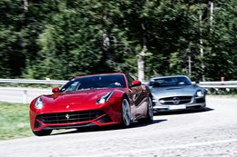 Ferrari F12 Berlinetta vs Mercedes-Benz SLS AMG Black Series