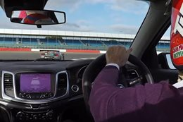 Tiff Needell belts a HSV Maloo around Silverstone main