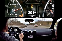 Audi TT RS top speed autobahn run main