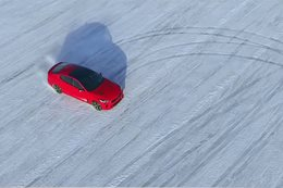 2017 Kia Stinger frozen lake drift
