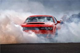 2018 Dodge Demon burnout