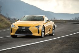 2018 Lexus LC 500 driving front1