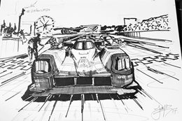 24 sketches during Le Mans