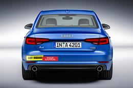 Audi A4 with bumper stickers
