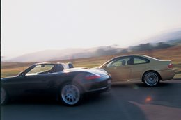 2003 BMW M3 vs 2003 Porsche Boxster S side