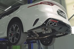 Kia Stinger GT tuned exhaust