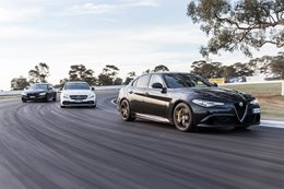 Alfa Giulia QV Mercedes AMG C63 BMW M3 Competition main