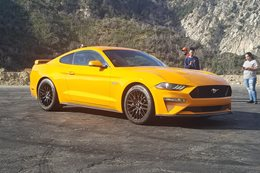 2018 Ford Mustang GT encountered pre launch