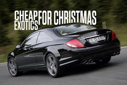 Cheap exotic performance cars for Christmas cover