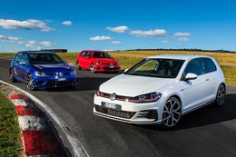 volkswagen golf gti r range available