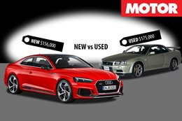 2018 Audi RS5 vs 2002 Nissan R34 GTR VSpec II Nur New vs Used