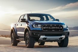 2018 Ford Ranger Raptor blue