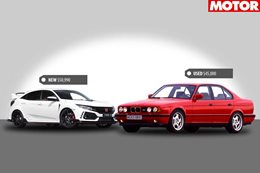 2018 Honda Civic Type R vs 1989 BMW E34 M5 new vs used
