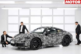 2019 Porsche 911 teased in camo