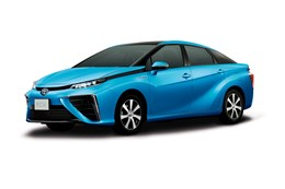 Toyota hydrogen fuel cell car