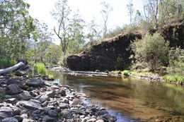 river at Lobs Hole Ravine