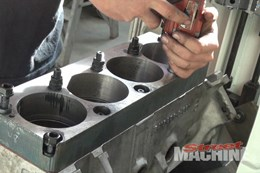 Engine block machining