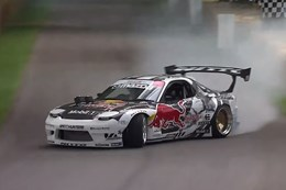 Mad Mike drifts Mazda RX-7 at Goodwood