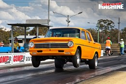 Kevin Brown's 202-powered EH Holden runs in the low twelves
