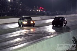 Street Outlaws near miss