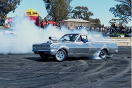 Holden ute burnout