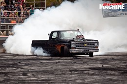 Chevy pick up truck burnout