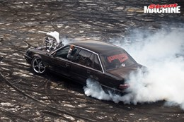 Holden Commodore burnout supercharged