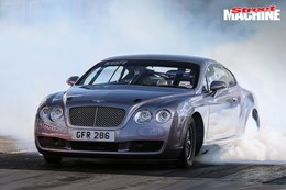 Bentley Continental GT drag race car