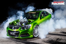 VF Commodore RELOAD burnout