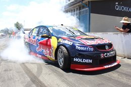 Redbull V8 Supercar burnout Summernats