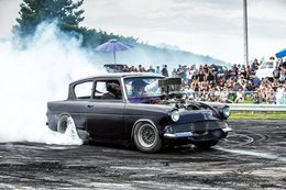 Ford Anglia burnout