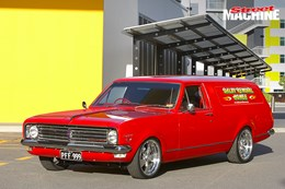 HK Holden Panel Van custom