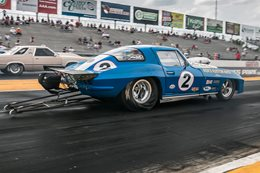 C2 Corvette drag car