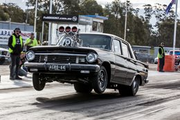 EH Holden blown big block drag